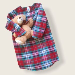 Land's End Warm Plaid Nightgown Size 8